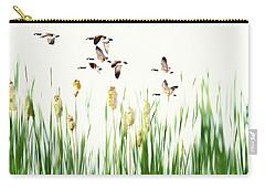 Ducks In Flight - Migration  Carry-all Pouch by Andrea Kollo