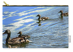 Carry-all Pouch featuring the photograph Ducks by Stephanie Moore