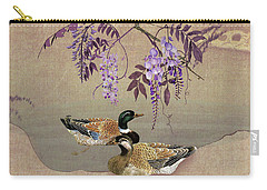 Ducks Under Wisteria Tree Carry-all Pouch
