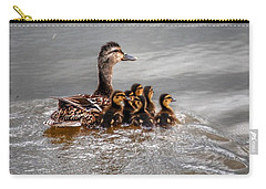 Carry-all Pouch featuring the photograph Ducky Daycare by Sumoflam Photography