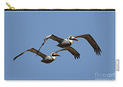 Duel Pelicans In Flight Carry-all Pouch