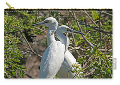 Dueling Egrets Carry-all Pouch by Kenneth Albin