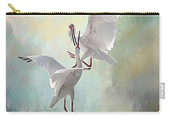 Duelling White Ibises Carry-all Pouch