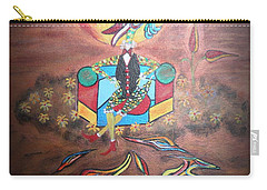 Carry-all Pouch featuring the painting Duke At Sunset by Marie Schwarzer