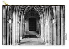 Duke Chapel Archways In Black And White Carry-all Pouch