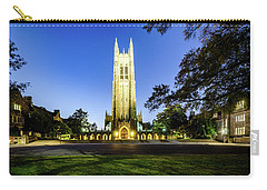 Duke Chapel Lit Up At The Blue Hour Carry-all Pouch
