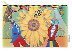 Carry-all Pouch featuring the painting Duke Have A Honey-bee by Marie Schwarzer