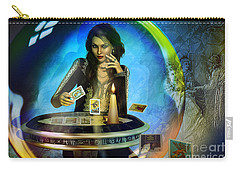 Carry-all Pouch featuring the digital art Dukkerin' ... Fortune Teller by Shadowlea Is