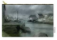 Dull Fall Day In Peggys Cove Carry-all Pouch