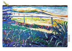 Carry-all Pouch featuring the painting Dune Grasses by Winsome Gunning