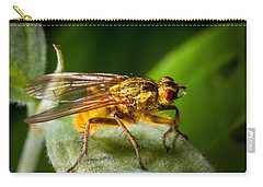 Dung Fly On Leaf Carry-all Pouch