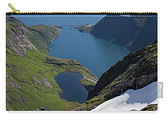 Djupfjord And Lake 229 From Munken Carry-all Pouch by Aivar Mikko