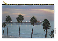 Carry-all Pouch featuring the photograph Dusk At The Pier by Suzanne Oesterling