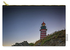 Carry-all Pouch featuring the photograph Dusk At West Quoddy Head Lighthouse by Rick Berk