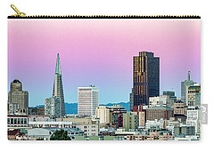 Carry-all Pouch featuring the photograph Dusk In San Francisco by Bill Gallagher