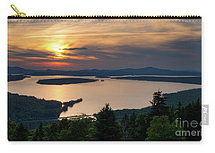 Carry-all Pouch featuring the photograph Dusk, Mooselookmeguntic Lake, Rangeley, Maine -63362-63364 by John Bald
