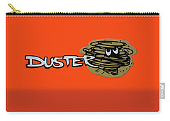 Carry-all Pouch featuring the photograph Duster Emblem by Mike McGlothlen
