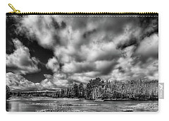 Carry-all Pouch featuring the photograph Dusting Of Snow On The River by David Patterson