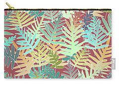 Dusty Cedar Ferns Aqua Carry-all Pouch