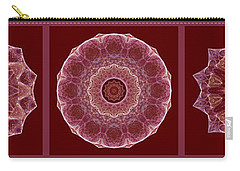 Dusty Rose Mandala Fractal Panel Carry-all Pouch