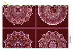 Dusty Rose Mandala Fractal Set Carry-all Pouch