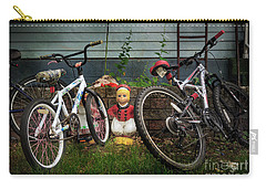 Carry-all Pouch featuring the photograph Dutch Boy's Bicycles by Craig J Satterlee