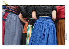 Dutch Dancers In A Huddle Carry-all Pouch by Michelle Calkins