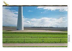 Carry-all Pouch featuring the photograph Dutch Landscape With Windmill by Hans Engbers