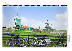 dutch windmills with bikes in Zaanse Schans Carry-all Pouch