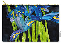 Dwarf Iris Watercolor On Yupo Carry-all Pouch