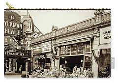 Carry-all Pouch featuring the photograph Dyckman Theater, 1926 by Cole Thompson