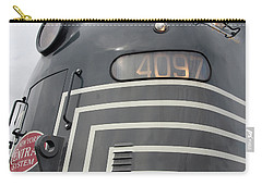 Carry-all Pouch featuring the photograph E M D E8 Diesel Locomotive by John Schneider