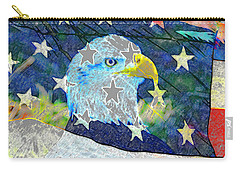 Carry-all Pouch featuring the digital art Eagle Americana by David Lee Thompson