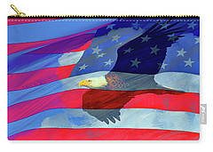 Eagle And Us Flag Carry-all Pouch