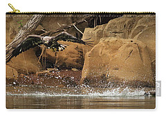 Carry-all Pouch featuring the photograph Eagle Attack by Douglas Stucky