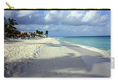 Carry-all Pouch featuring the photograph Eagle Beach Aruba by Suzanne Stout