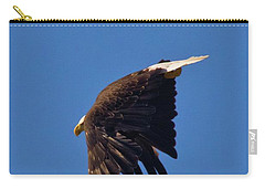 Carry-all Pouch featuring the photograph Eagle Dive by Linda Unger