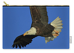 Carry-all Pouch featuring the photograph Eagle Diving by Coby Cooper
