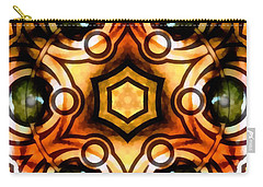 Carry-all Pouch featuring the digital art Eagle Eye Ray by Derek Gedney