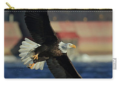 Carry-all Pouch featuring the photograph Eagle Flying by Coby Cooper