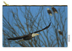 Carry-all Pouch featuring the photograph Eagle Gang by Coby Cooper
