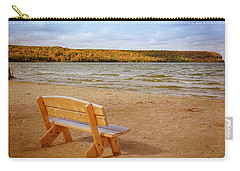 Carry-all Pouch featuring the photograph Eagle Harbor Summer Is Over by Heidi Hermes