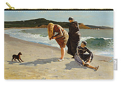 Carry-all Pouch featuring the painting Eagle Head, Manchester, Massachusetts - 1870 by Winslow Homer
