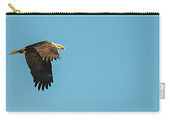 Carry-all Pouch featuring the photograph Eagle In Flight Panoramic by Jeff at JSJ Photography