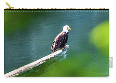 Eagle In Lake Carry-all Pouch