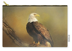 Eagle In The Fog Carry-all Pouch