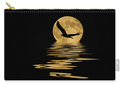 Eagle In The Moonlight Carry-all Pouch