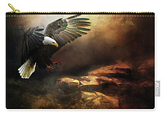 Eagle Is Landing Carry-all Pouch