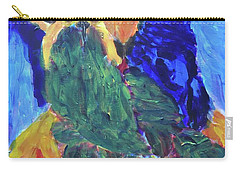 Carry-all Pouch featuring the painting Standing Outside The Fire by Donald J Ryker III