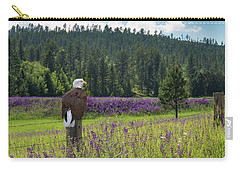Eagle On Fence Post Carry-all Pouch